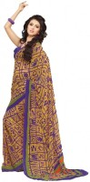 De Marca Solid Chiffon Sari
