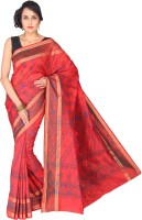 Pavechas Graphic Print Cotton, Silk Sari