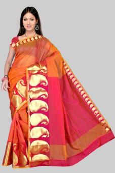 Pavechas Printed Mangalagiri Cotton Sari: Sari