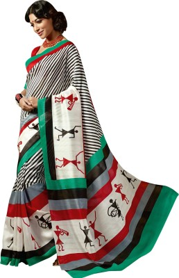 Triveni Striped Daily Wear Art Silk Sari