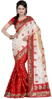 Sarovar Sarees Embriodered Mysore Art Silk Sari