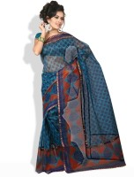 Shreejee Floral Print Synthetic Sari