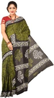 Paridhi Sarees Graphic Print Hand Batik Cotton Sari