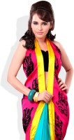 Adaas Printed, Solid Silk Sari