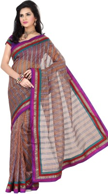 Triveni Checkered Daily Wear Net Sari
