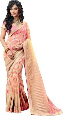 Vishal Saree Embriodered Fashion Brasso Fabric Sari