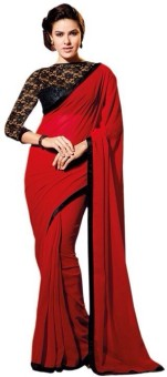 Kalista Plain Bollywood Polyester Sari