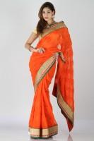 Bhavish Solid Georgette, Chiffon Sari