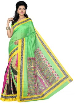 Ishin Printed Bhagalpuri Art Silk Sari
