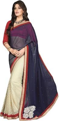 Anushree Anushree Self Design Fashion Georgette Sari (Multicolor)