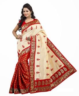 Livaaz Floral Print Berhampuri Handloom Art Silk Sari