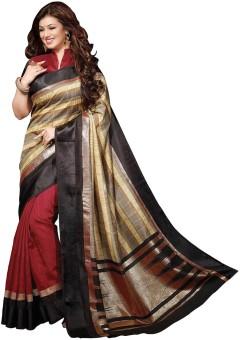 Glory Sarees Geometric Print Bhagalpuri Art Silk Sari