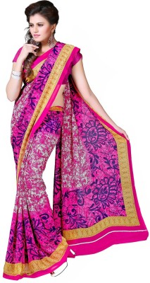 Sweethearts Fashion Sweethearts Fashion Floral Print Daily Wear Chiffon Sari (Multicolor)