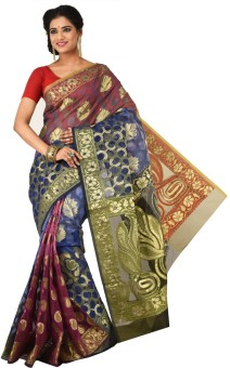 Creation Floral Print Fashion Art Silk Sari