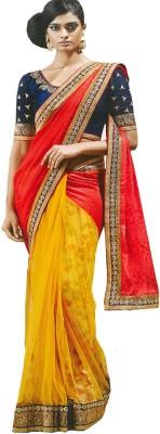 Fabulous Self Design Fashion Georgette Sari (Multicolor)