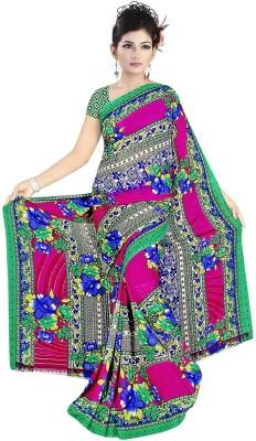 Art Silk Nj Fabric Printed Fashion Art Silk Sari (Black)