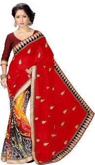 Shonaya Embriodered Fashion Georgette Sari