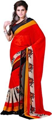 Sweethearts Fashion Sweethearts Fashion Floral Print Daily Wear Chiffon Sari (Multicolor)