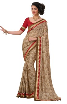 Anwesha Sarees Printed Fashion Poly Silk Sari