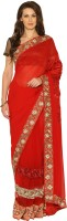 Senses Self Design Embroidered Embellished Georgette, Net Sari - SARDZZP8CGYYNYYJ