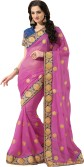 MS Retail Self Design Fashion Organza Sari