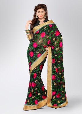 Soch Floral Print Embroidered Georgette Sari