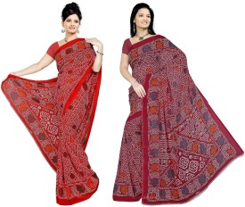 Anand Sarees Self Design Fashion Synthetic Sari Pack Of 2