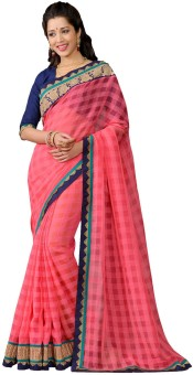 Sudarshan Silks Self Design Manipuri Handloom Cotton, Georgette, Jacquard Sari