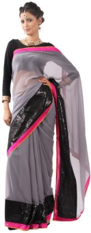 Get Style At Home Self Design Bollywood Georgette Sari