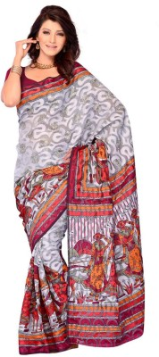 Dream Saree Printed Daily Wear Brasso Sari available at Flipkart for Rs.2500