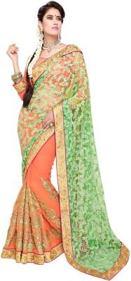 Aarti Saree Self Design Fashion Brasso, Chiffon Sari available at Flipkart for Rs.2772