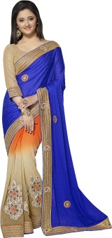 Manvaa Self Design Fashion Machine Jacquard, Georgette, Chiffon Sari