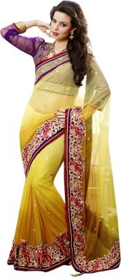 Triveni Printed Fashion Net Sari