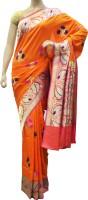 Bhavish Floral Print Embroidered Embellished Silk Sari