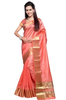 Inddus Printed Fashion Silk Cotton Blend Sari