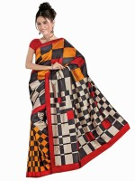 Rangmanch Checkered Silk Sari
