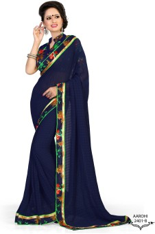 Sarees House Self Design Bollywood Satin, Chiffon Sari