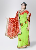 Akriti Georgette, Chanderi Sari