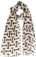 Hi Look Geometric Print Poly Cotton Women's Scarf