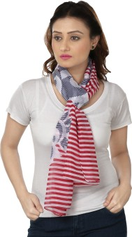 Insyync Striped Polyester Women's, Girl's Scarf