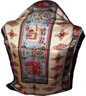 Indianart Printed Satin Silk Women's Scarf - SCFE84H8MFARD5RA