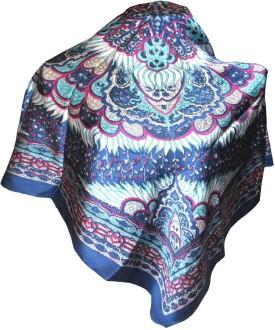 Indianart Floral Print Satin Silk Women's Scarf
