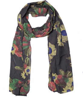 Weavers Villa Printed Trendy Scarves And Stoles Light Weight Premium Poly Cotton Summer Tropical Floral Women's Scarf