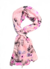 SAJAY FASHIONS Floral Print POLY COTTON Girl's, Women's Stole