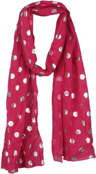 True Fashion Polka Dot Cotton Foil Women's Scarf