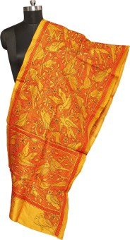 Darbari Embroidered Pure Silk Women's Scarf