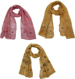 SFDS Self Design Cotton Women's Scarf