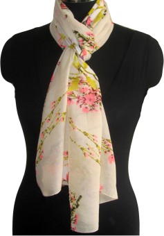 Kescarves Striped Polyester Women's Scarf