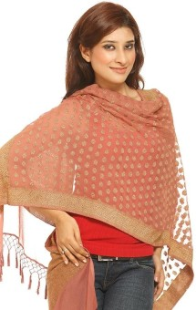Chhabra 555 Self Design Georgette Women's Scarf