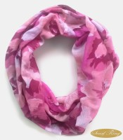 ScarfKing Floral Print Polyester Women's Scarf